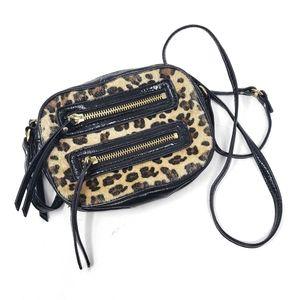 Steve Madden | Black Cheetah Leopard Faux Fur Bag